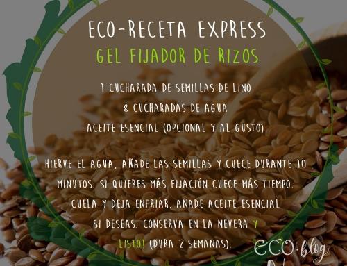 """Eco Receta Express """"Gel Fijador de rizos con semillas de Lino"""""""