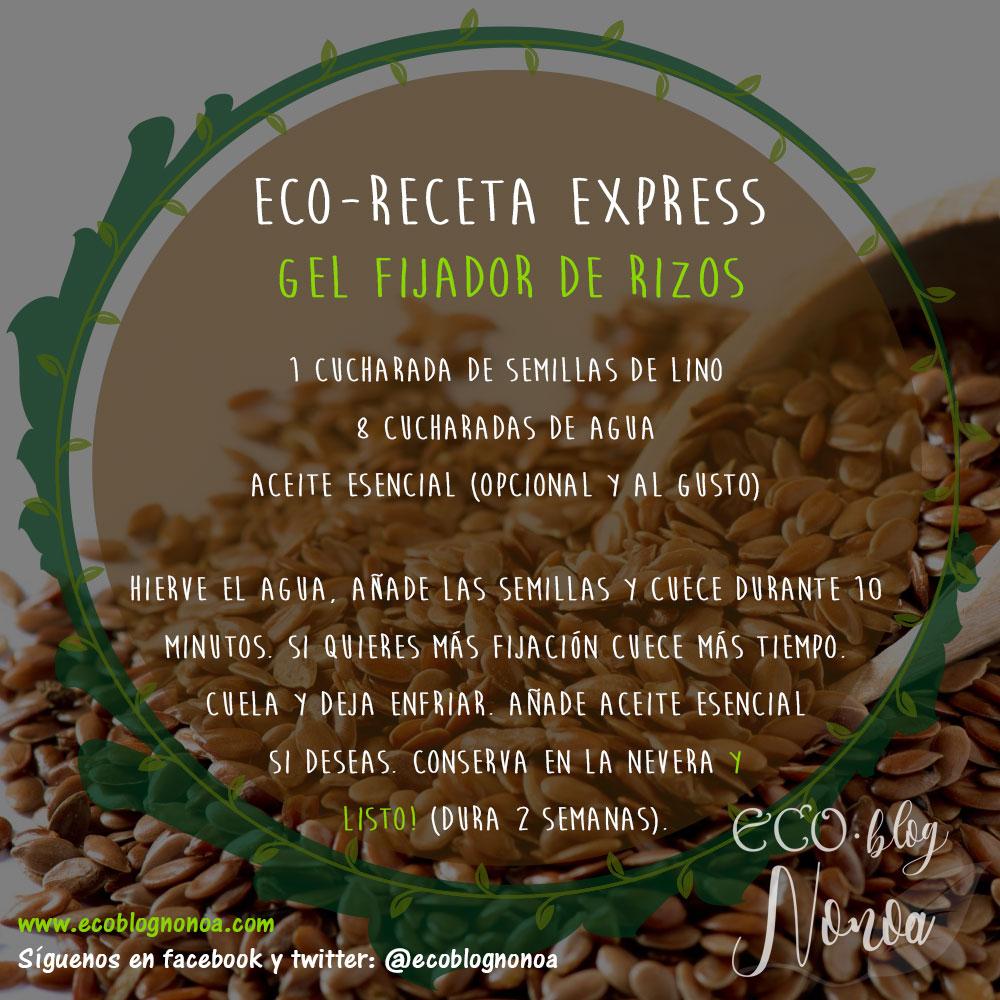 gel fijador definidor de rizos con semillas de lino | ecoreceta express | Ecoblog Nonoa