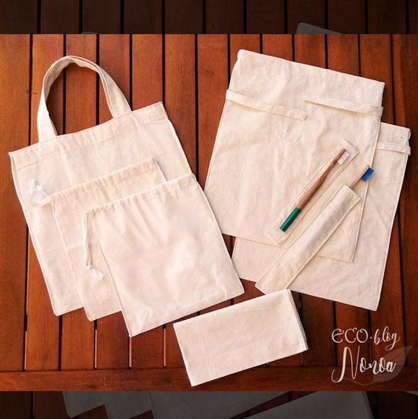 0b9b014a0 Estas bolsas me las hizo mi madre a partir de telas sobrantes de cortinas,  y no me pueden gustar más. Además con los retales que sobraron hizo unas  fundas ...