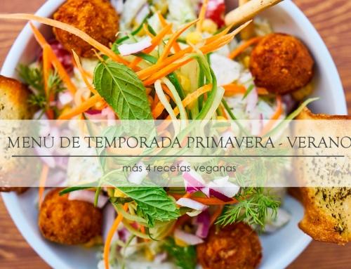 Menú Mensual Primavera-Verano (a granel y sin plástico) + 4 recetas veganas